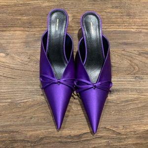 NEW Balenciaga Violet Satin Heel